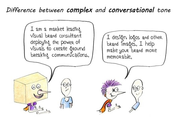 complex vs conversational tone