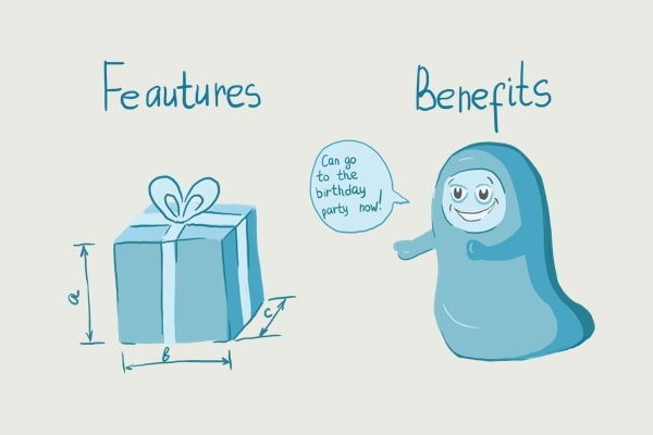 features vs benefits