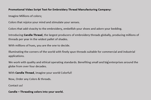 promotional video script